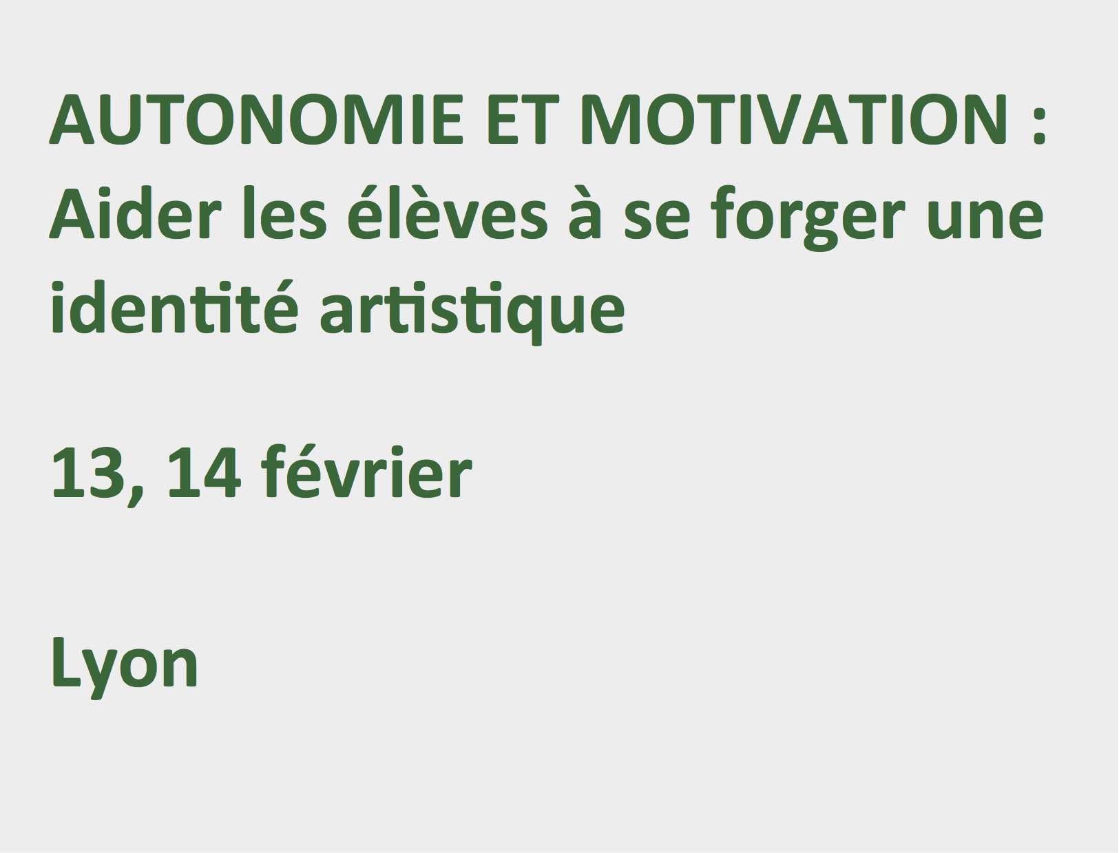 Autonomie et motivation