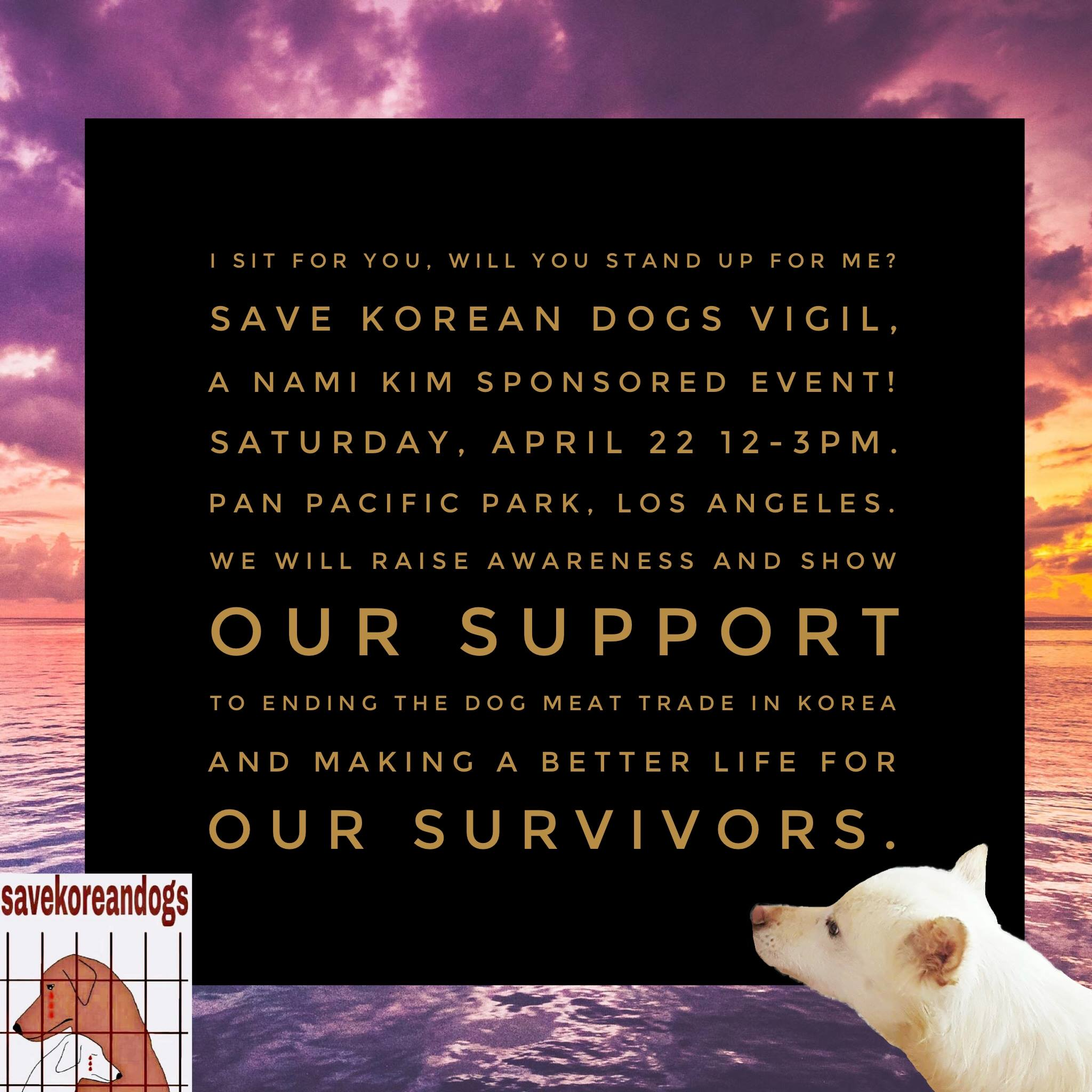 Pan Pacific Park / Save Korean Dogs Vigil