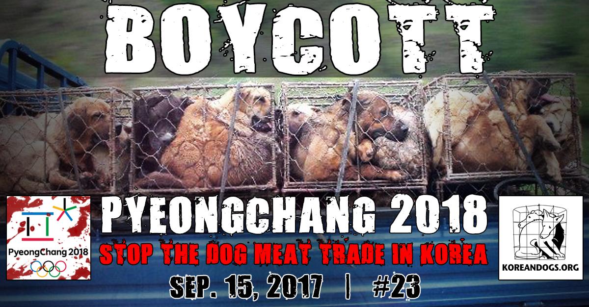 "Thunderclap – ""Boycott PyeongChang 2018 Campaign""!"