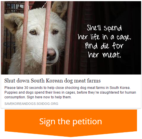 HELP SHUT DOWN SHOCKING 'MEAT DOG' FARMS IN SOUTH KOREA