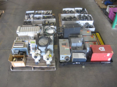 Lot of various electrical equipment for auction