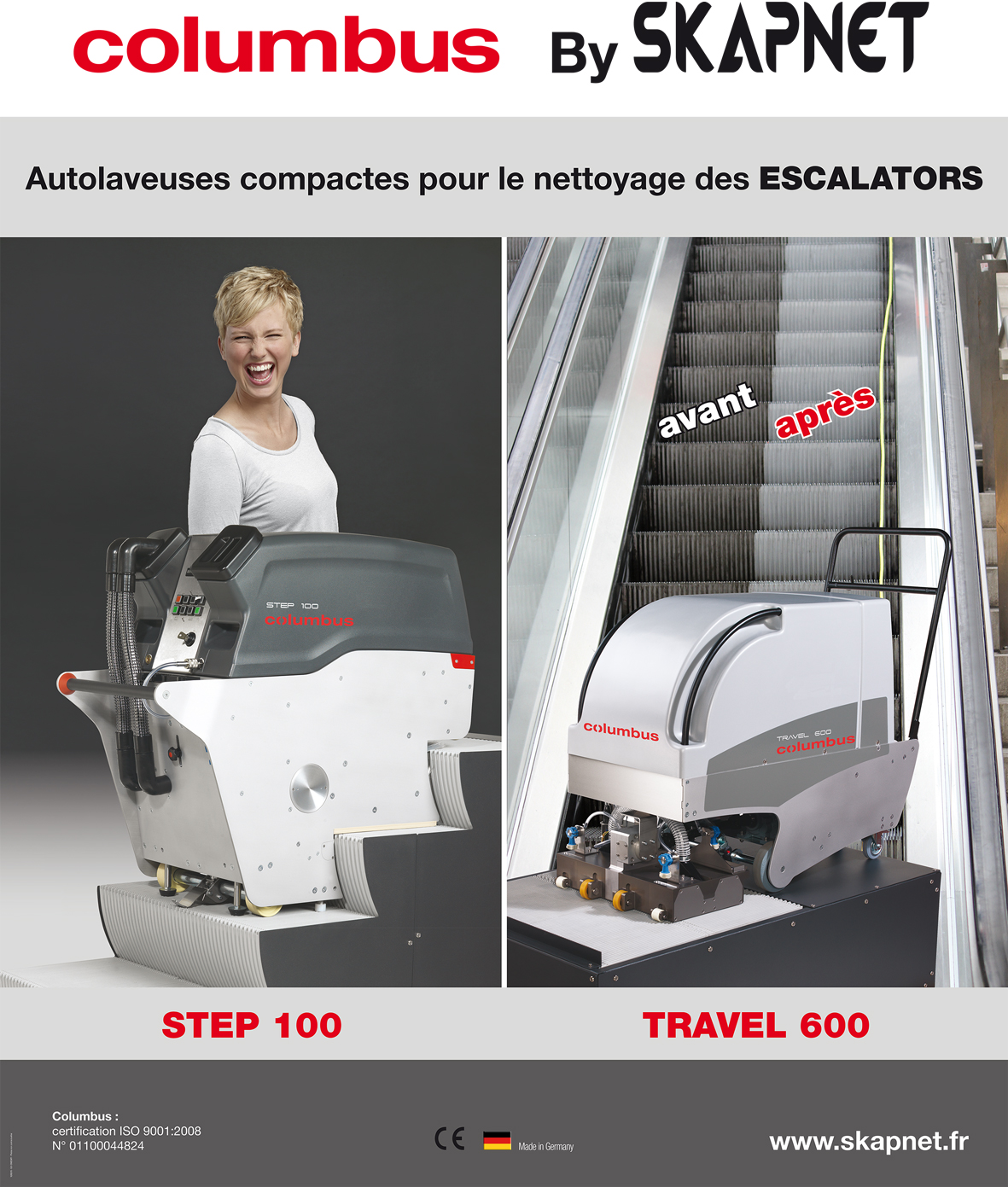 MACHINE DE NETTOYAGE DES ESCALIERS ROULANTS