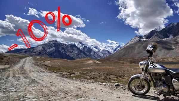 Himalaya v.courte : remise de 10%