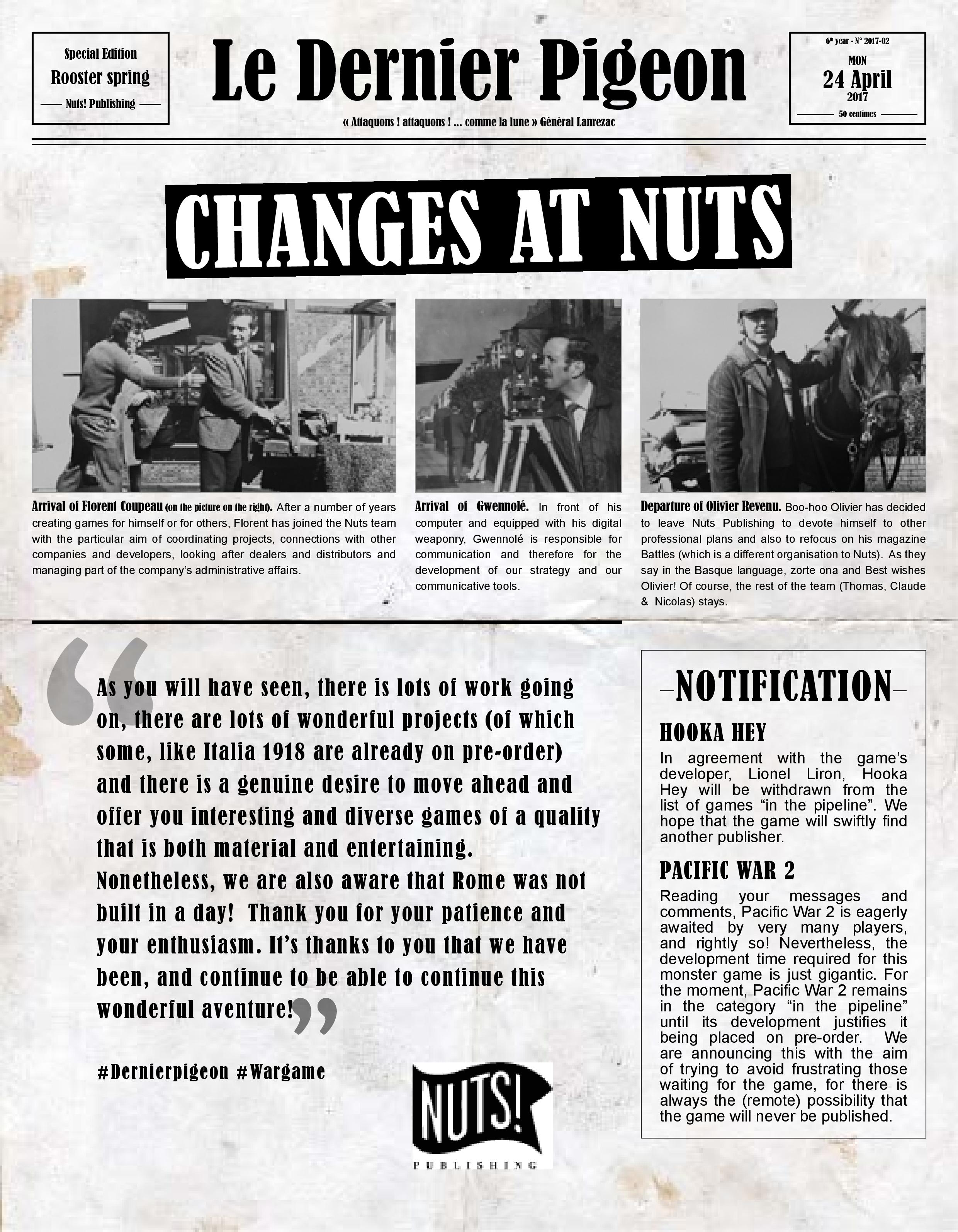 Nuts Publishing Newsletter