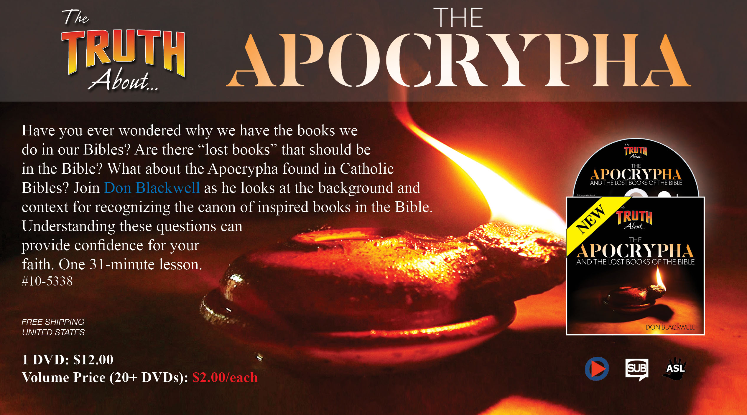 The Apocrypha on DVD