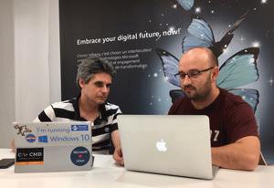 Franck Le Follotec et Hervé Thibault animent un talk intitulé « Digital workplace côté poste de travail : enfin du concret ! »