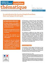 spécialisation des bassins d'emploi franciliens