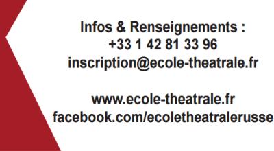 Demain le  Printemps - Ecole théâtrale soviétique pour les francophones à Minsk (Bélarus)