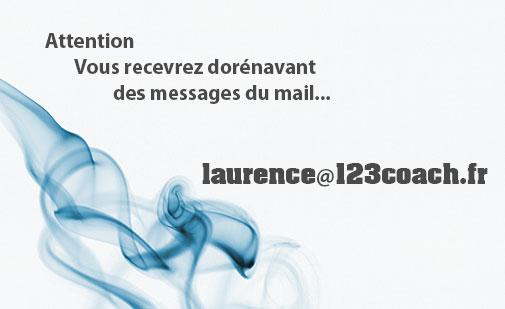 Réception des mails via l'adresse laurence@123coach.fr