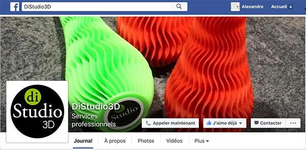 diStudio3D sur Facebook