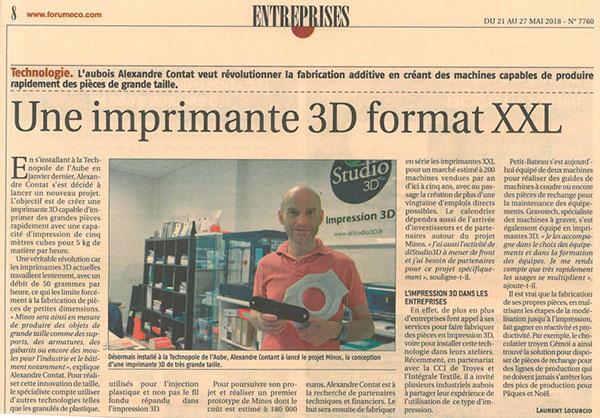 Questionnaire impression 3D