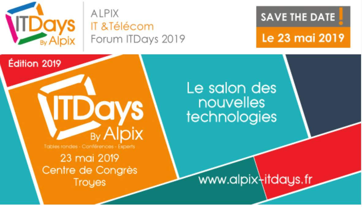 Alpix IT DAYS le 23 mai 2019
