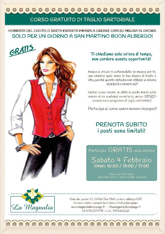 Lezione Taglio Sartoriale Gratuita - Verona