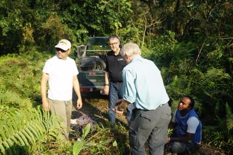Collecting Mikania weed near Amaltari Village (Fiona Johnson)