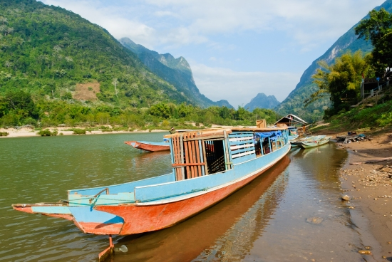 Boat in the Mekong