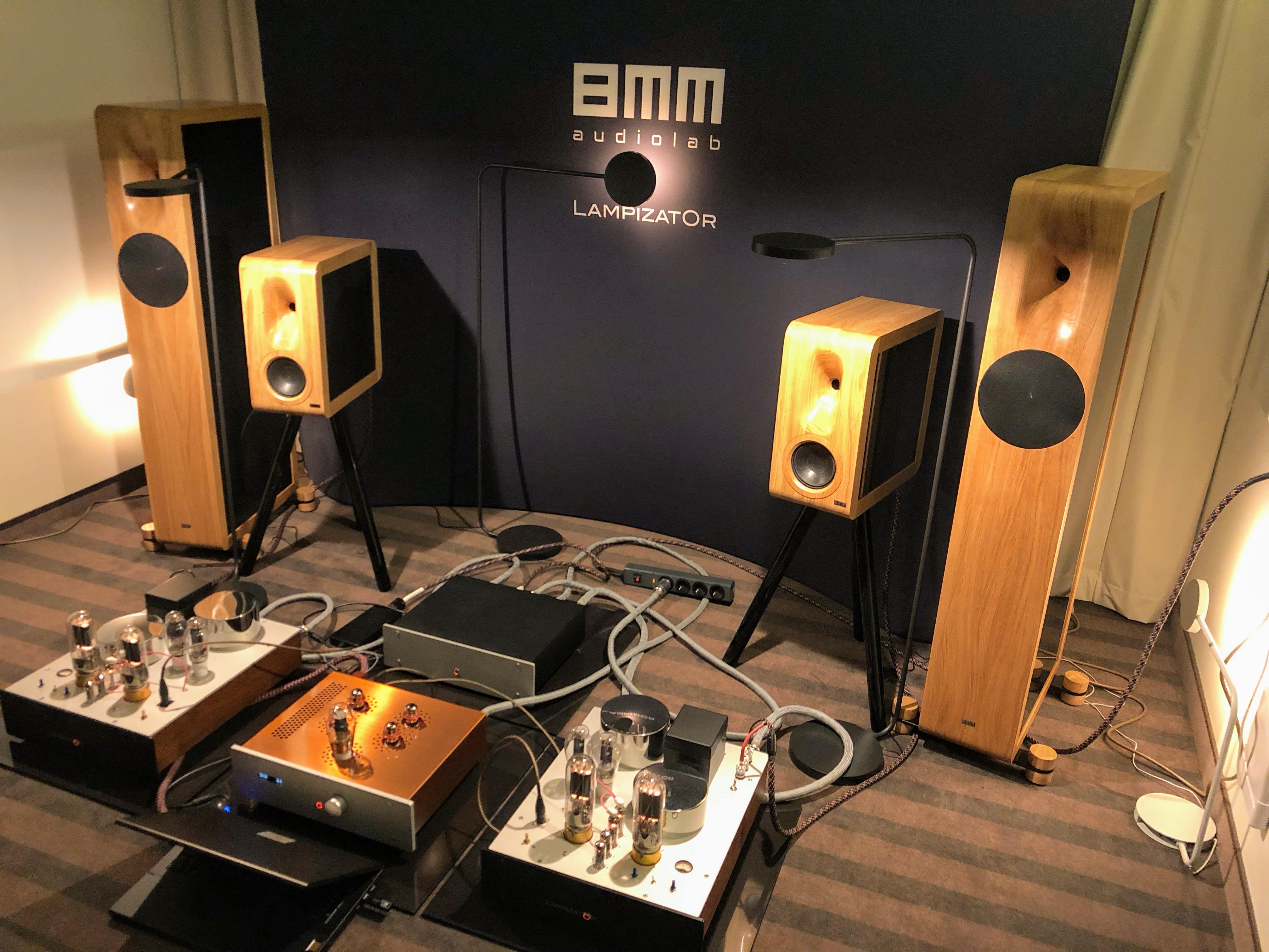 8MM Audiolab speakers and Lampizator valve euipment