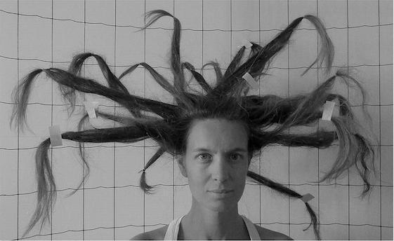 Hair (Tribute to Gordon Matta-Clarck) - 2018- Sérigraphie éditée par l'atelier Tchikebe
