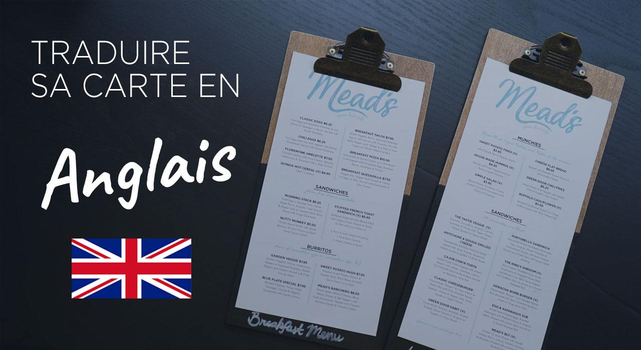 menu français anglais