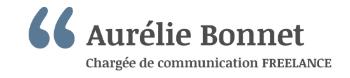 Aurélie Bonnet, Chargée de communication FREELANCE