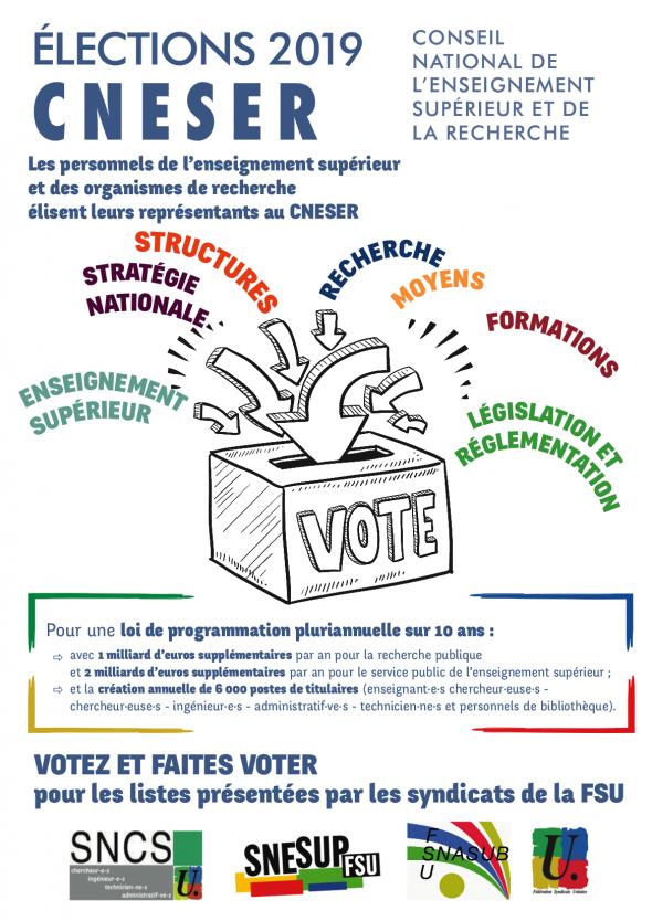 Affiche élections CNESER 2019