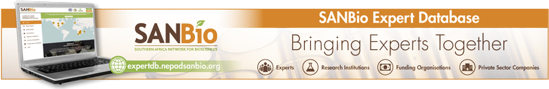 Connect with experts and organisations in biosciences on the SANBio Expert Database