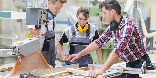 © Adobe Stock - Dans l'entreprise, les apprentis sont accompagnés par un tuteur.