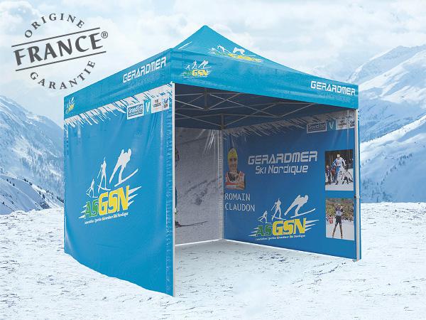 L'AS Gérardmer ski nordique, association développant la pratique du ski et des ses activités assimilées au plus grand nombre sur les pistes de la magnifique forêt Vosgienne s'est équipé de tentes pliantes V3 PRO pour la prochaine saison.