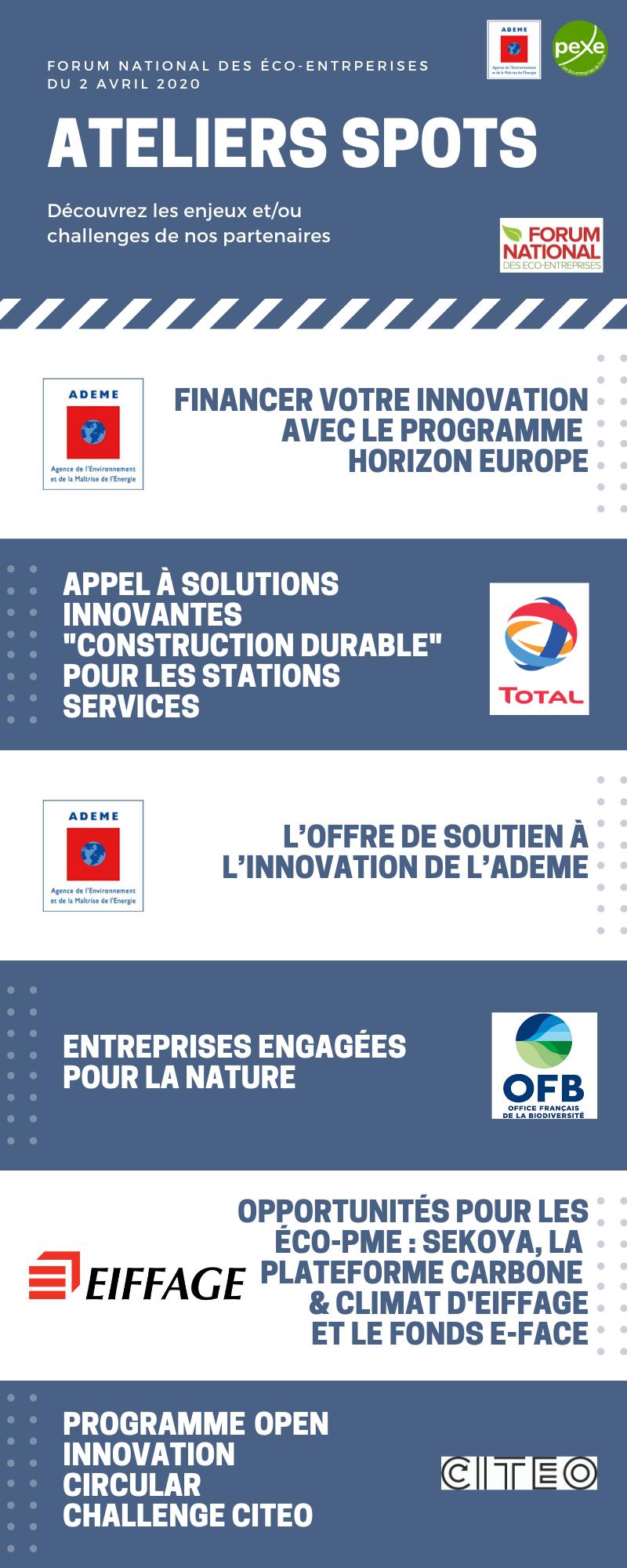 Ateliers spots du Forum national des éco-entreprrises
