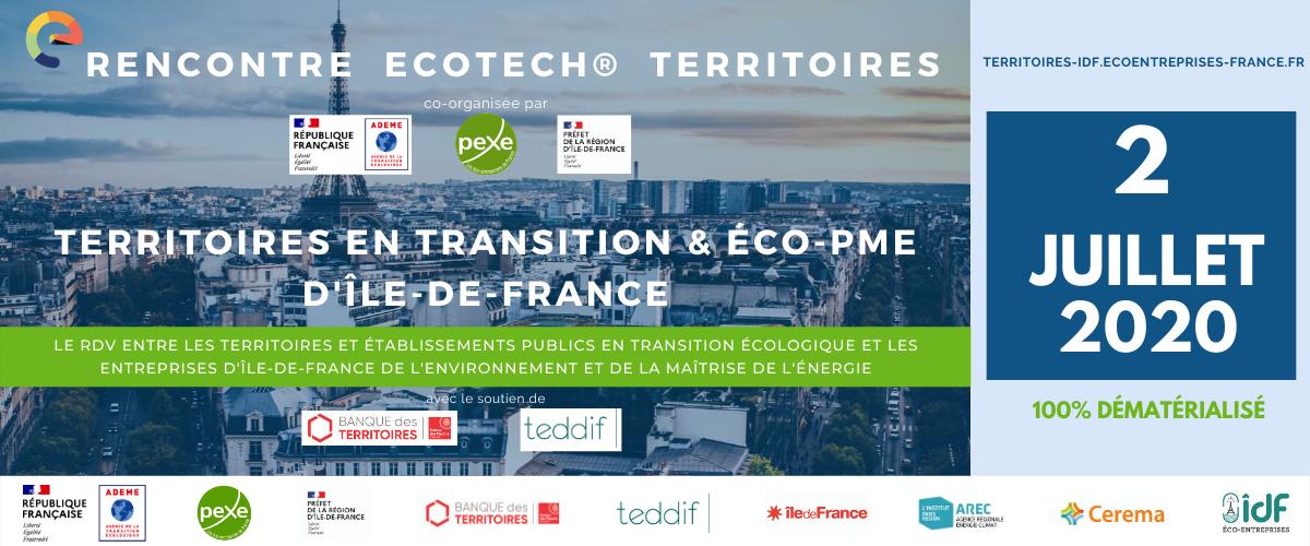 Rencontre Ecotech Territoires en transition et éco-PME d'IDF le 2 juillet
