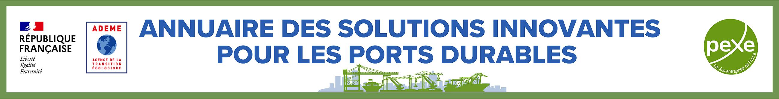 Référencez-vous dans l'annuaire des solutions innovantes pour les ports durables