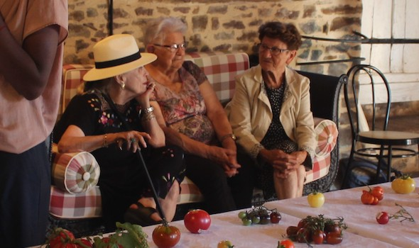 Marie-France IONESCO, Cécile SIMON, Madeleine TRAVERT [Cerisy, août 2018]
