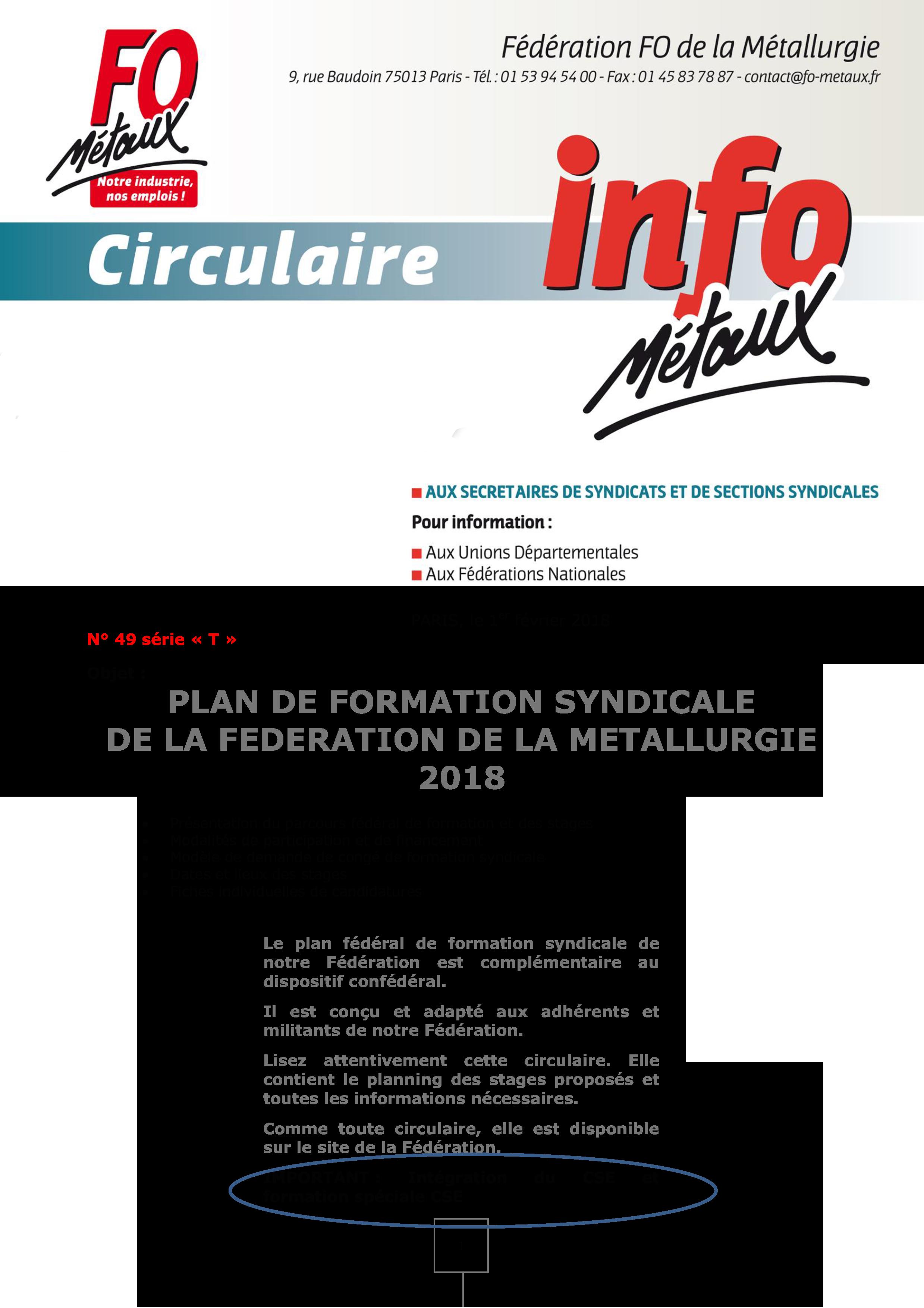 964e4b1ca51 Plan de formation syndicale de la fédération de la Métallurgie