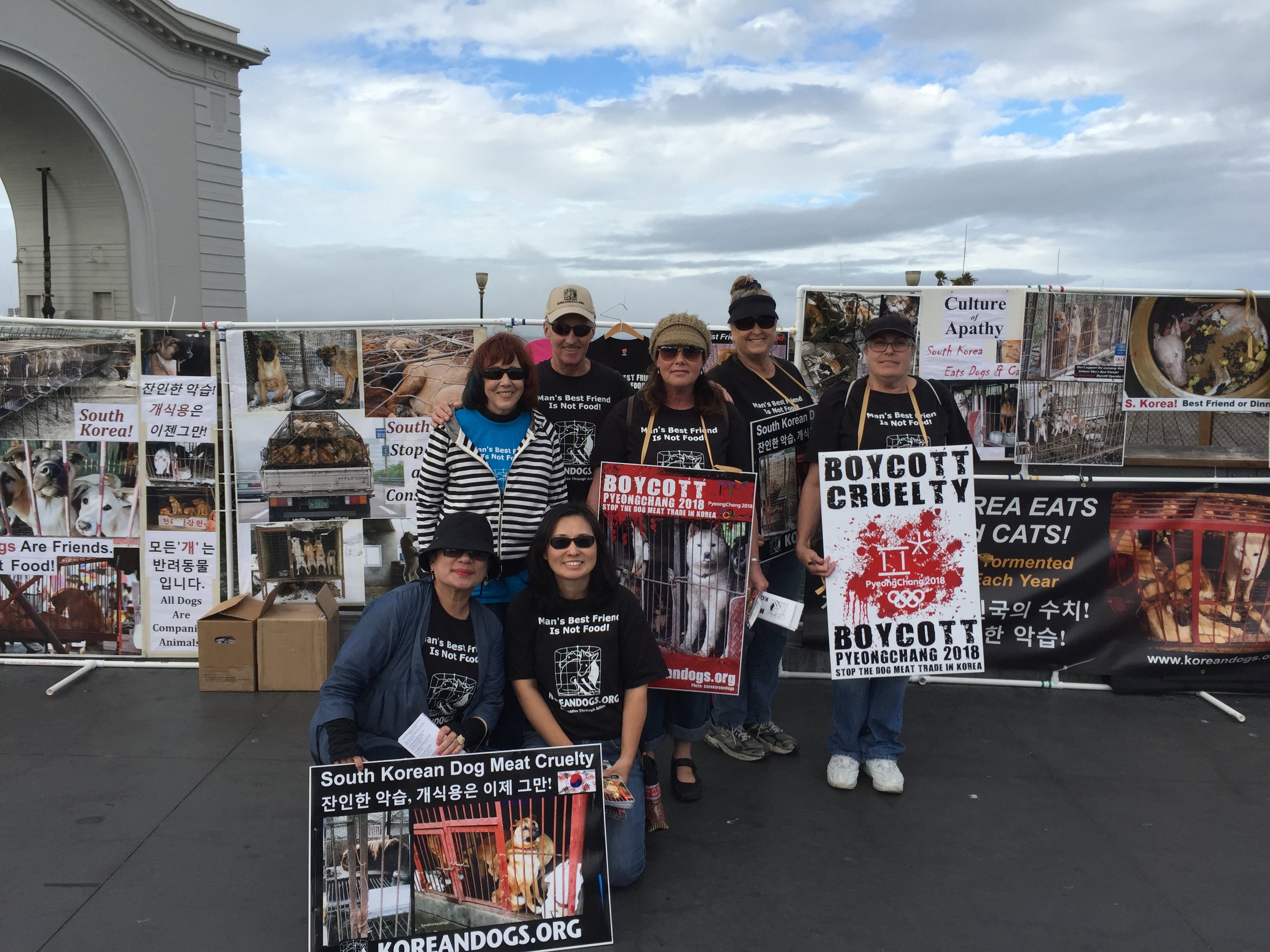 February 6, 2016 Saturday - Fisherman's Wharf, San Francisco, California Leafleting and Informational Event on South Korean Dog Meat Trade