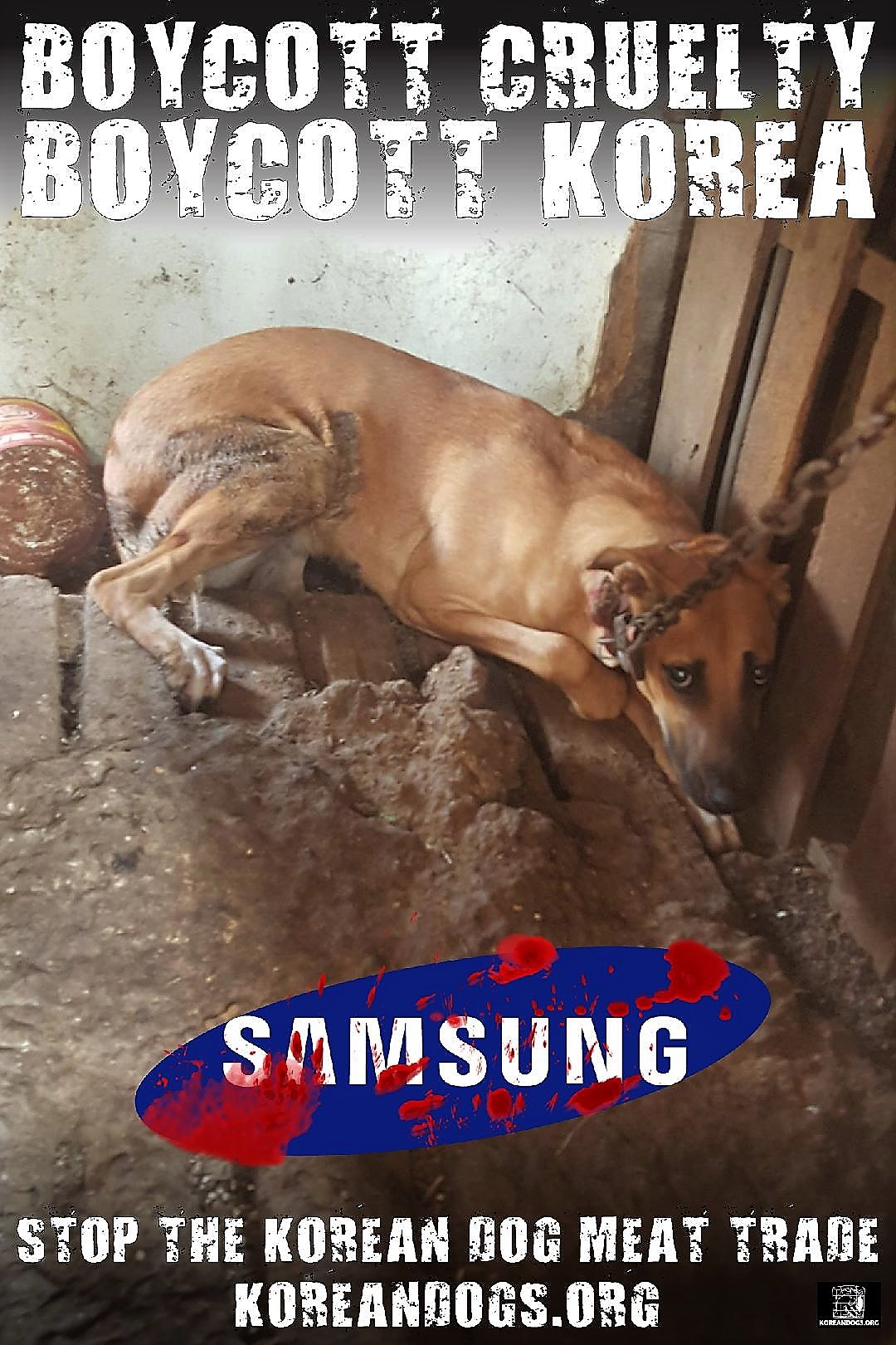Samsung must speak out against the brutality of South Korea!