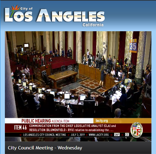 LOS ANGELES CITY COUNCIL  Wednesday, July 3, 2019