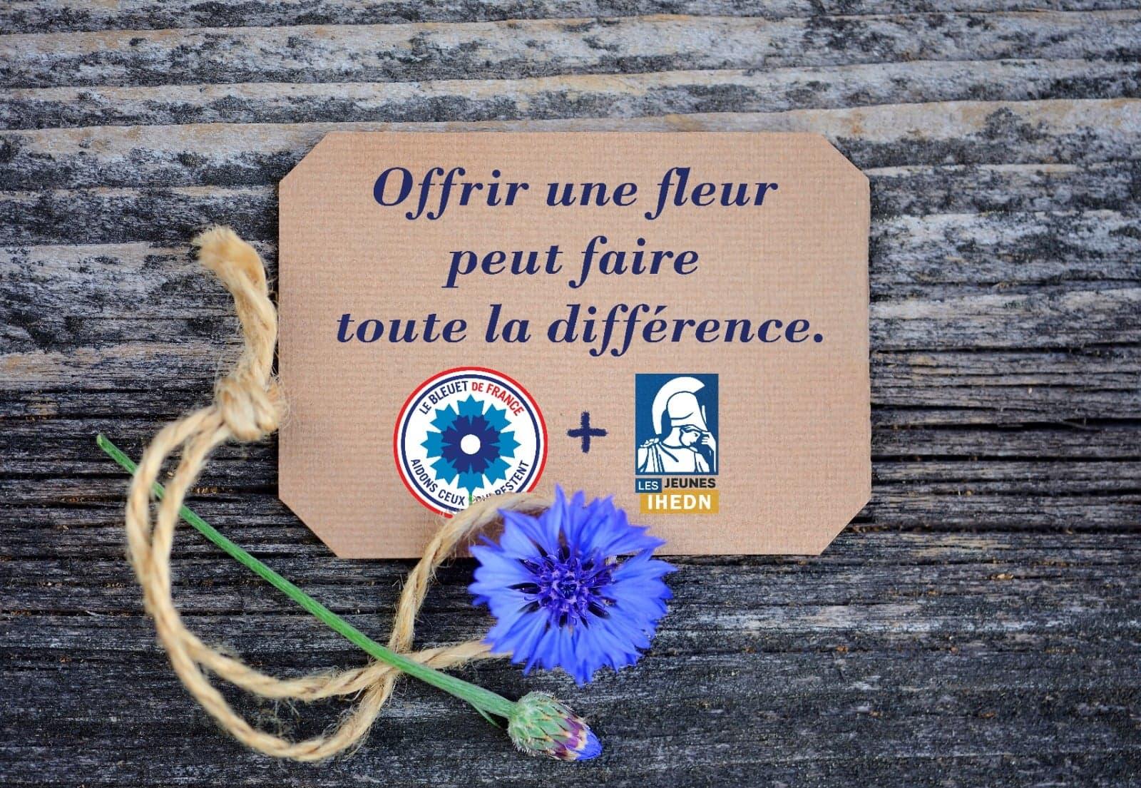 [Bleuet de France]Offrir une fleur peut faire toute la différence