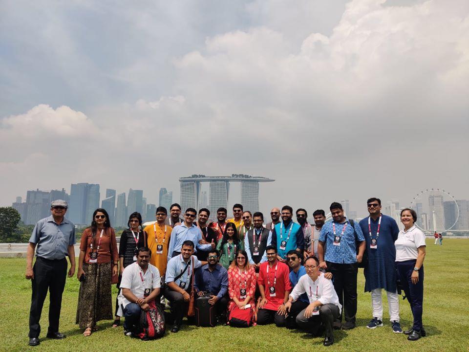 Delegation at Singapore