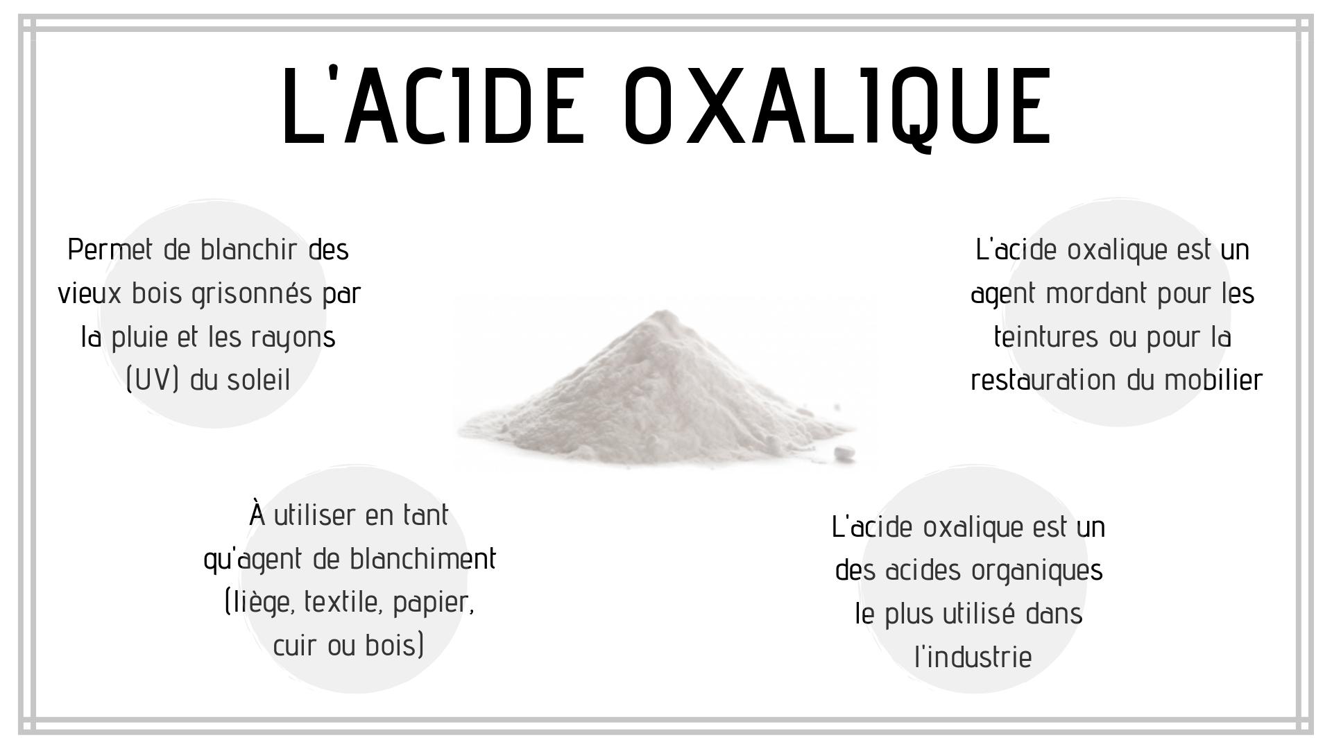 Écobulle : Acide oxalique