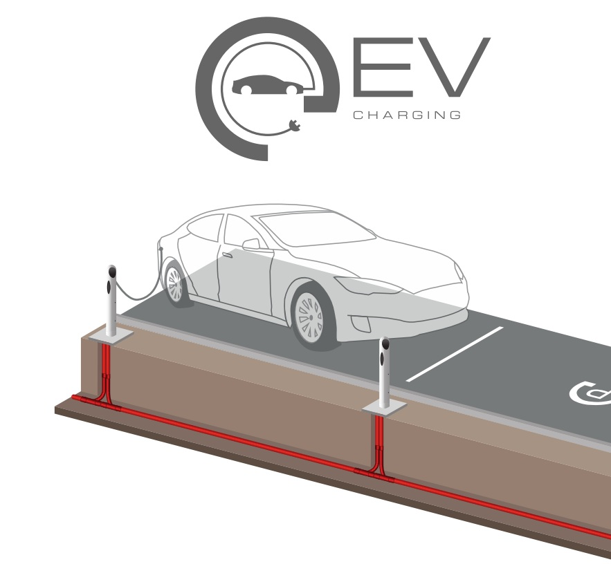 Tuburi pentru statii de incarcare autovehicule electrice