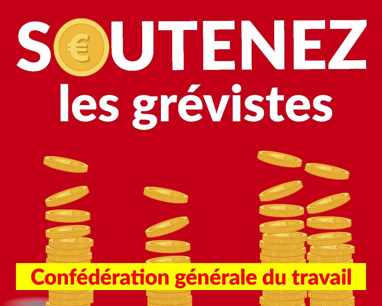 Caisse de solidarité envers les grévistes