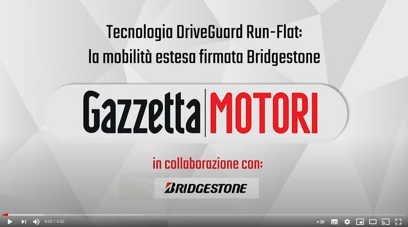 Video Gazzetta Motori - Bridgestone DriveGuard Run-Flat