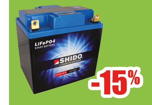 Batería litio 30A Shido