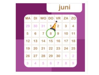 Aflezen van een maandkalender