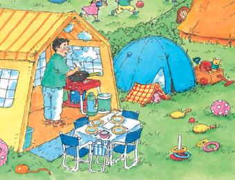 Praatplaat op de camping