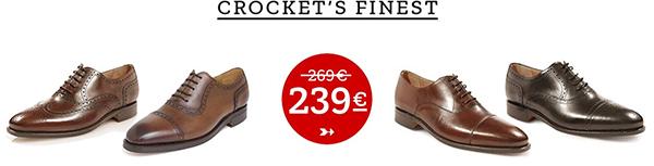 Rahmengenähte Schuhe in Handarbeit: Crocket's Finest