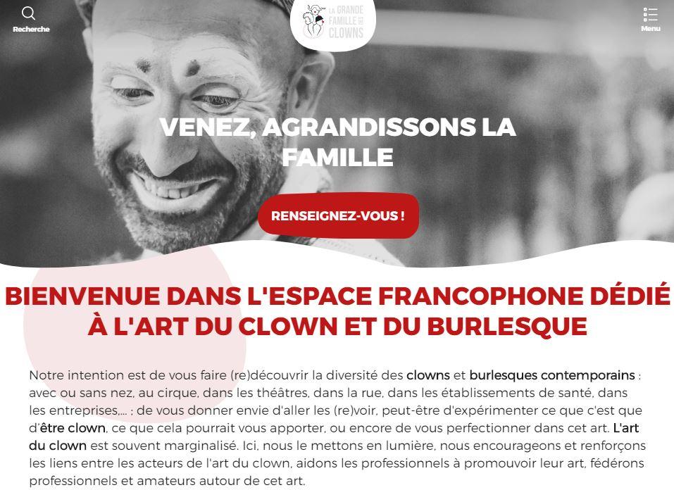 Site La Grande Famille des Clowns