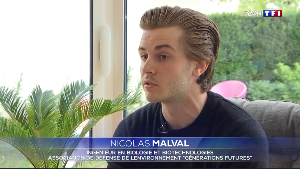 Nicolas Malval, ingénieur en biologie au 20h de TF1