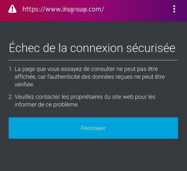 connexion sécurisée TLS