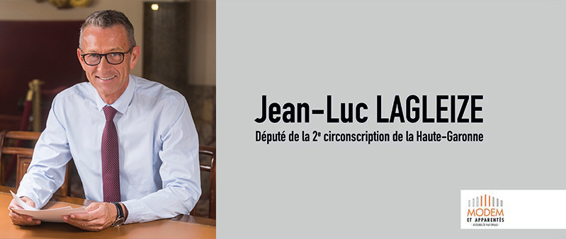 Site internet du député de la 2e circonscription de la Haute-Garonne, Jean-Luc LAGLEIZE