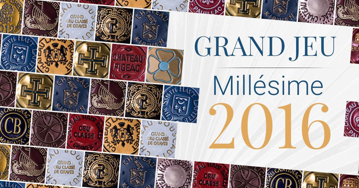 Grand Jeu Millésime 2016